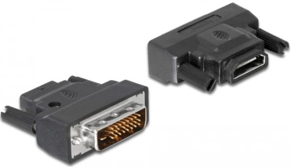 Delock Adapter DVI-25pin Stecker > HDMI Buchse mit LED 65024