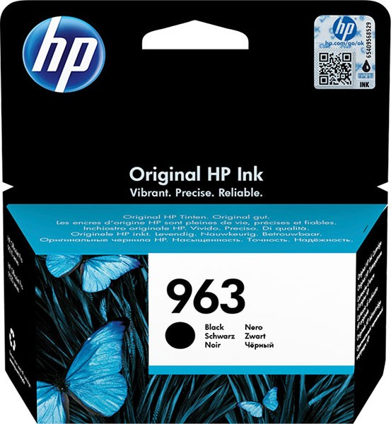 orig. Tintenpatrone HP 963 Black/Schwarz 3JA26AE