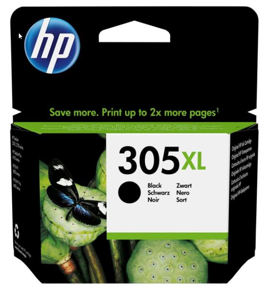 orig. HP Tintenpatrone 3YM62AE Nr. 305XL Black/Schwarz