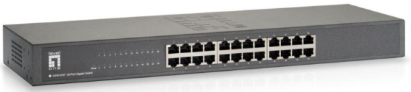 "LevelOne Switch 19"" 24x GBit Unmanaged"