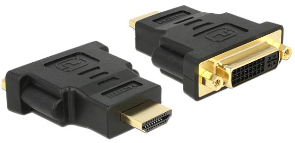 DELOCK Adapter HDMI Stecker > DVI 24+5 Pin Buchse 65467