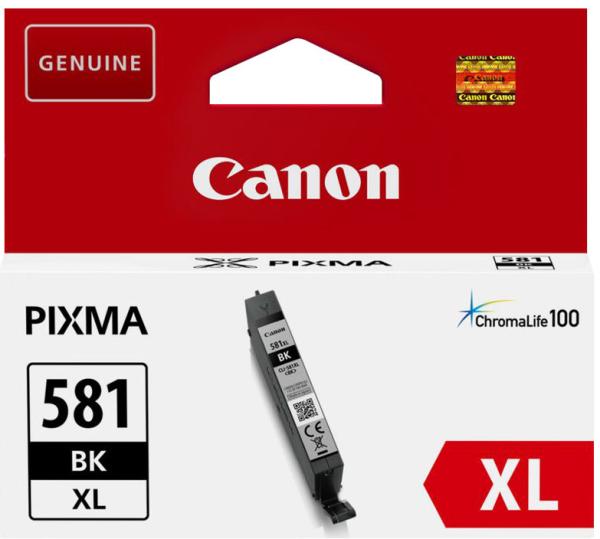 orig. Tintenpatrone Canon CLI-581XLBK black/schwarz, 8,3ml für ca. 500 Seiten