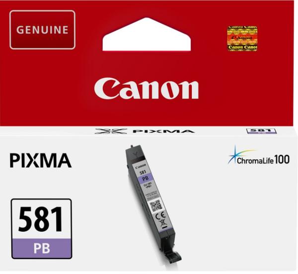 orig. Tintenpatrone Canon CLI-581PB photo blue/blau, 5,6ml für ca. 250 Seiten
