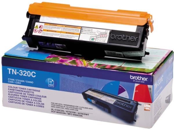 orig. Brother Toner TN-320C ca. 1500 Seiten Cyan/Blau