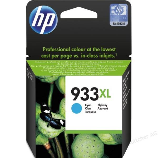 Orig. Tintenpatrone HP CN054AE Nr. 933XL Cyan/Blau