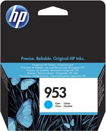 orig. Tintenpatrone HP 953 F6U12AE, cyan/blau, ca. 700 Seiten