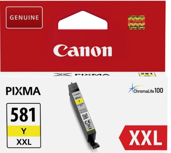 orig. Tintenpatrone Canon CLI-581XXLY yellow/gelb, 11,7ml für ca. 800 Seiten