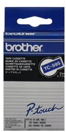 orig. Brother TC595/TC-595 Schriftbandkassette weiß/blau, 9 mm