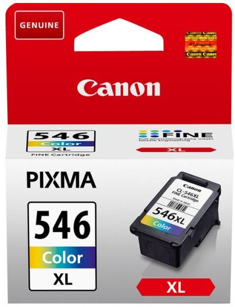 orig. Tintenpatrone Canon CL-546XL Color/Farbe 13ml, 300 Seiten mit Diebstahlsicherung
