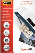 Fellowes Laminierfolientasche, DIN A6, glänzend, 250 mic2 x 125 mic (Capture), 100 Stk
