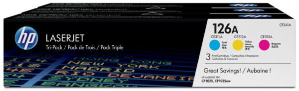 orig. Toner HP CF341A 126A Tri-Pack C/M/Y