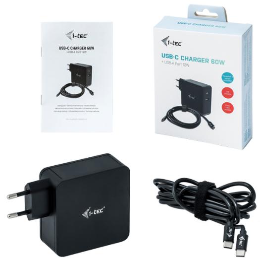 I-TEC Netzladegeraet fuer USB Geraete Dual Ladegeraet Adapter 2,4A, Weiss USB auch fuer Apple iPad 1