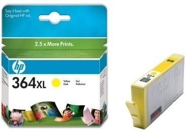 orig. Tintenpatrone HP CB325EE/Nr. 364XL, yellow/Gelb Vivera