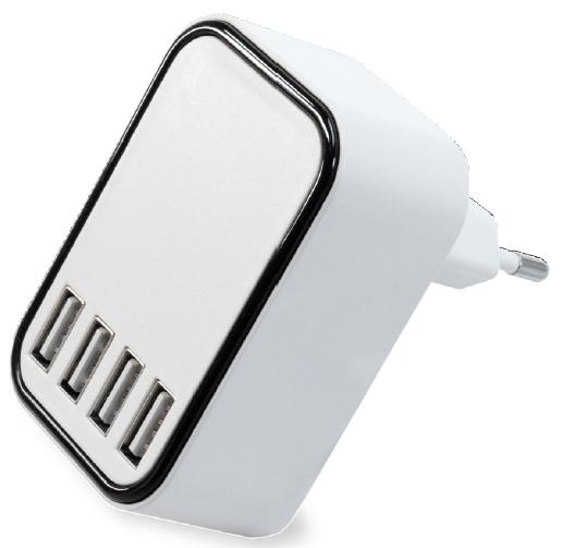 FeinLoad Schnelllade Steckernetzteil 4x USB weiss