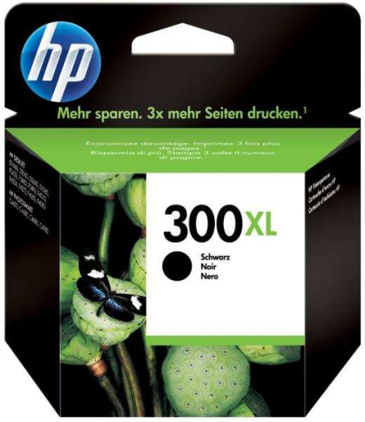 orig. Tintenpatrone HP CC641EE/Nr. 300XL, black/Schwarz ca. 600 Seiten