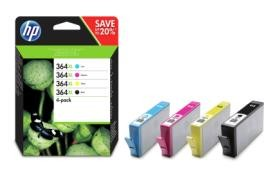 Orig. Tintenpatrone HP N9J74AE BK/Y/M/C Multipack Nr. 364XL