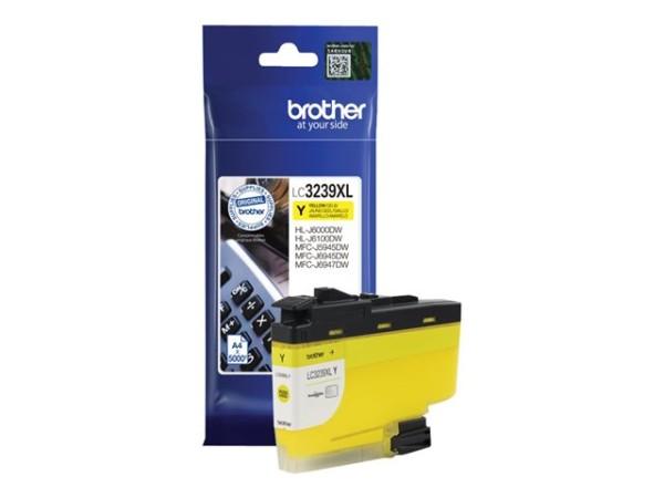 orig. Brother Tintenpatrone LC-3239XLY Yellow/Gelb, ca. 5.000 Seiten