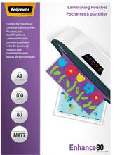 Fellowes Laminierfolientasche, DIN A3, matt, 160 mic 2 x 80 mic (Enhance), 100 Stk