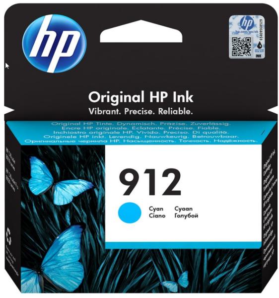 Orig. Tintenpatrone HP 3YL77AE Nr. 912 cyan/blau