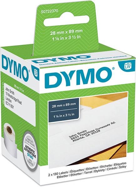 DYMO LabelWriter Adress Etiketten groß weiß 89x28