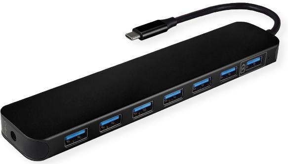 VALUE USB 3.2 Gen 1 Hub, 7-fach Typ C Anschlusskabel