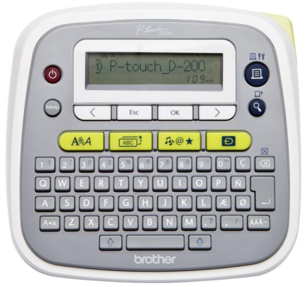 Brother P-Touch PT-D200BWVP - Beschriftungsgerät - 3,5-12mm