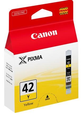 orig. Tintenpatrone CANON CLI-42Y yellow/gelb, 284 Fotos