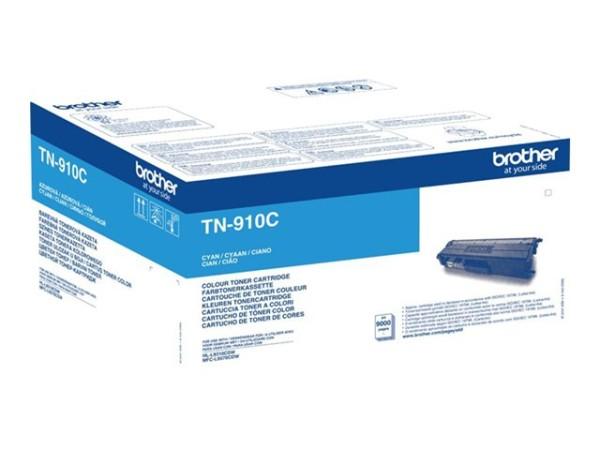 orig. BROTHER TN-910C Tonerkassette Cyan/Blau ca. 9000 Seiten