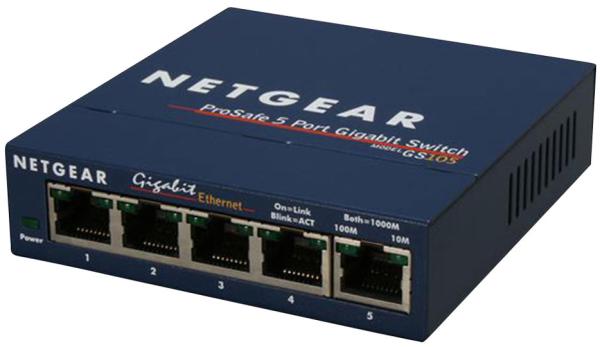NETGEAR GS105GE Gigabit Ethernet Switch 5xRJ45 10/100/1000 5port (EN)
