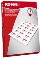 Kores Universal-Etiketten 105x35mm 100 Blatt, weiss, 100 Blatt