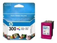 orig. Tintenpatrone HP CC643EE/Nr. 300, Color/Farbe 165 Seiten bei 5% Deckung