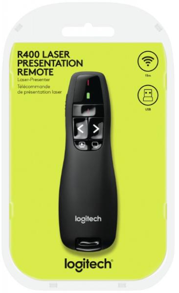 Logitech Wireless Presenter R400, USB-Anschluss - Präsentations-Fernsteuerung - HF