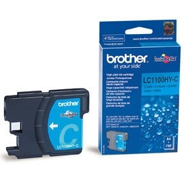 orig. Brother Tintenpatrone LC-1100HYC cyan/blau