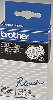 orig. Brother TC102/TC-102 Schriftbandkassette rot/farblos, 12 mm