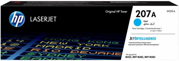 orig. Toner HP Nr.207A W2211A Cartridge cyan/blau 1.250 Seiten