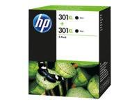 Orig. Tintenpatrone HP D8J45AE Nr.301XL black/schwarz Doppelpackung