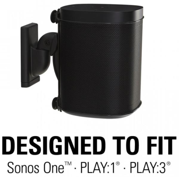 Sanus WSWM21-B2 Wandhalter für Sonos One, PLAY:1 oder PLAY:3 black