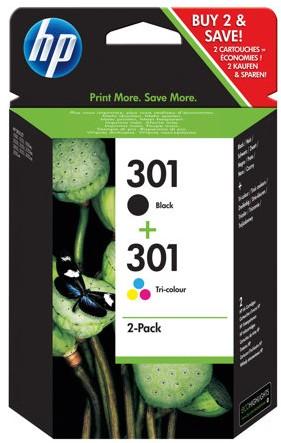 Orig. Tintenpatrone HP N9J72AE Nr.301 Multipack Black/Color CH561EE/CH562EE