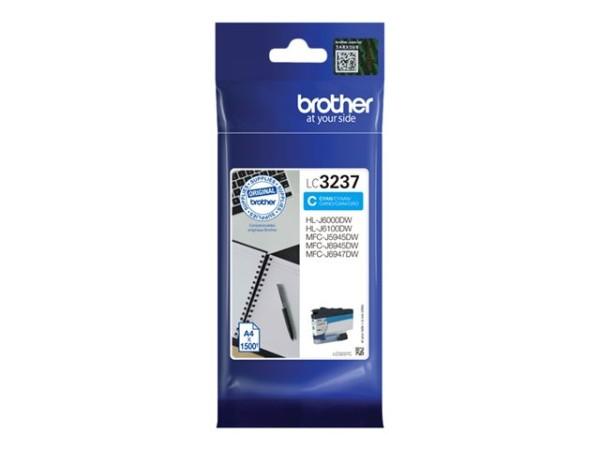 orig. Brother Tintenpatrone LC-3237C Cyan/Blau, ca. 1.500 Seiten