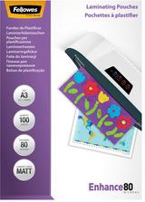 Fellowes Laminierfolientasche, DIN A4, matt, 160 mic 2 x 80 mic (Enhance), 100 Stk