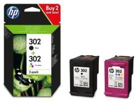 HP Tintenpatrone X4D37AE Nr. 302 color/black Combo Pack