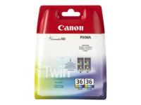orig. Tintenpatrone Canon CLI-36 Color/Farbe Doppelpack