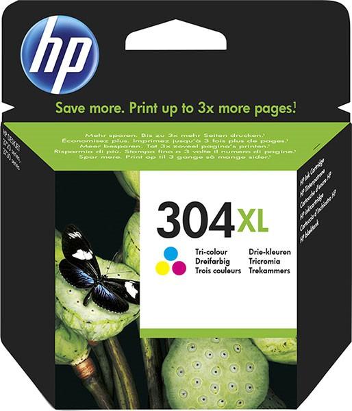 orig. HP Tintenpatrone N9K07AE Nr. 304XL color Cyan/Magenta/Gelb ca. 300 Seiten