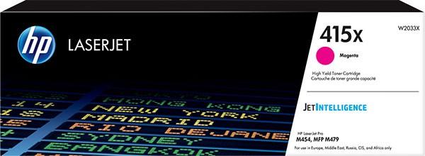 orig. Toner HP W2033X No. 415X Magenta/Rot ca. 6.000 Seiten