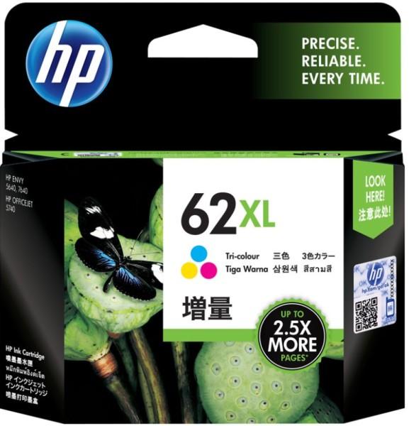 HP Tintenpatrone C2P07AE Nr. 62XL color ca. 415 Seiten