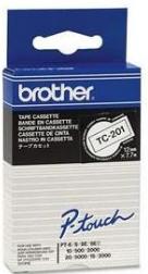 orig. Brother TC201/TC-201 Schriftbandkassette schwarz/weiß, 12 mm