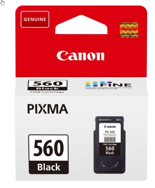 orig. Tintenpatrone Canon PG-560 Black/Schwarz für ca. 180 Seiten
