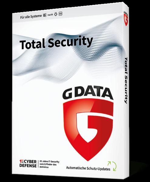 GDATA Total Security für 2 User für 1 Jahr Vollversion Download Key only