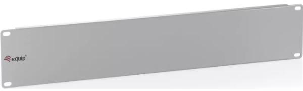 """equip 19"""" Blind-Panel, 2 HE, lichtgrau (RAL 7035) als Frontabdeckung für alle gängigen 19"""" Sch"""