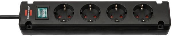 brennenstuhl Steckdosenleiste Bremounta, 4-fach, schwarz---------------- für den Markt: D / NL / A